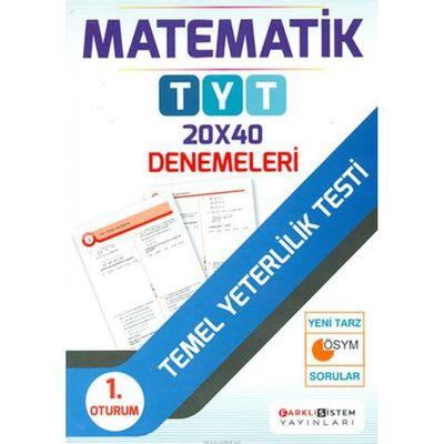 TYT 1. Oturum Matematik 20x40 Denemeleri Farklı Sistem Yayınları