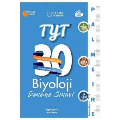 TYT Biyoloji 30 Deneme Sınavı Palmetre Serisi Palme Yayınevi