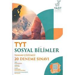 Yazıt Yayınları - TYT Sosyal Bilimler Tamamı Çözümlü 20 Deneme Sınavı