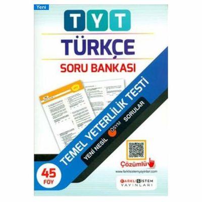 TYT Türkçe Soru Bankası Farklı Sistem Yayınları