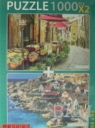 Gordion Games - Vintage Cafe - Temel Reis Kasabası Puzzle (2 X 1000 Parça)