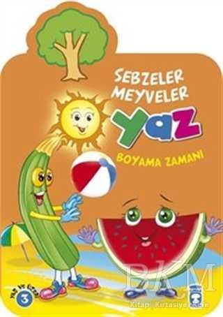 Yaz Sebzeler Meyveler Boyama Zamanı Bkm Kitap