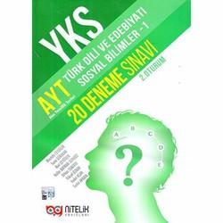 Nitelik Yayınları - YKS Kitapları - YKS AYT Türk Dili ve Edebiyatı Sosyal Bilimler -1 20 Deneme Sınavı