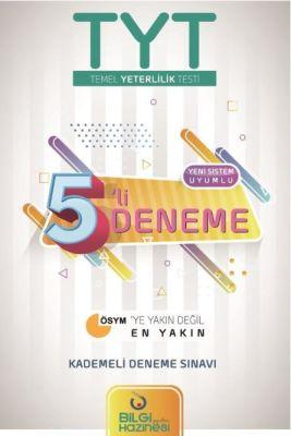 YKS TYT 5 li Deneme Sınavı Bilgi Hazinesi Yayınları