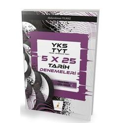 Pelikan Tıp Teknik Yayıncılık - YKS TYT 5x25 Tamamı Çözümlü Tarih Denemeleri